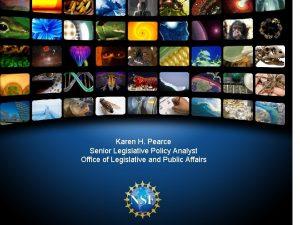 Karen H Pearce Senior Legislative Policy Analyst Office