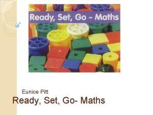 Eunice Pitt Ready Set Go Maths Ready Set