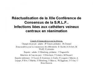 Ractualisation de la XIIe Confrence de Consensus de