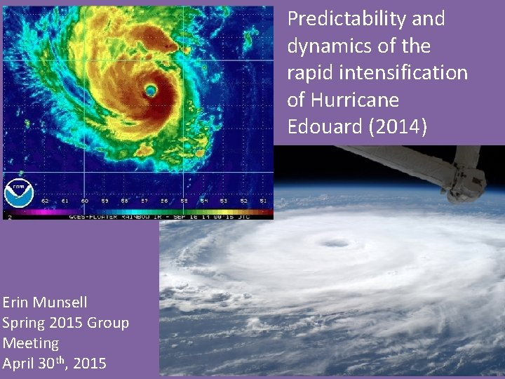 Predictability and dynamics of the rapid intensification of