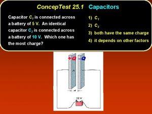 Concep Test 25 1 Capacitors Capacitor C 1