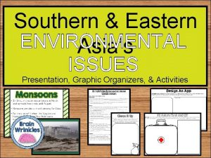 Southern Eastern ENVIRONMENTAL Asias ISSUES Presentation Graphic Organizers