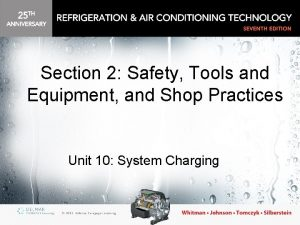 Section 2 Safety Tools and Equipment and Shop