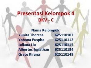 Presentasi Kelompok 4 DKV C Nama Kelompok Yunita