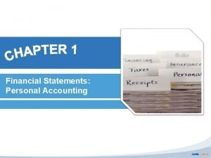 Financial Statements Personal Accounting Checklist Chapter 1 Meaning