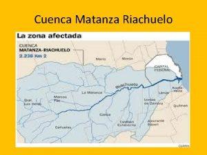 Cuenca Matanza Riachuelo Distribucin de las descargas Contaminacion