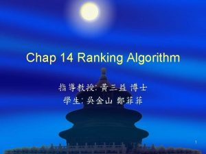 Outline Introduction Ranking models Selecting ranking techniques Data