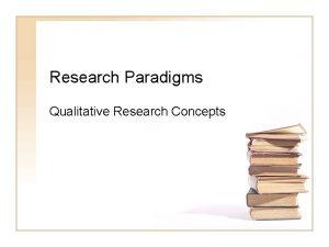 Research Paradigms Qualitative Research Concepts Most quantitative research