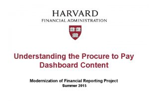 Understanding the Procure to Pay Dashboard Content Modernization