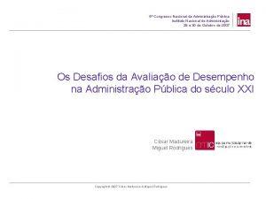 5 Congresso Nacional da Administrao Pblica Instituto Nacional