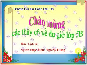 Trng Tiu hc Hng Thi Ty Mn Lch