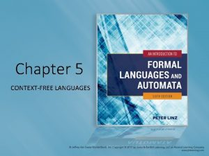 Chapter 5 CONTEXTFREE LANGUAGES Learning Objectives At the