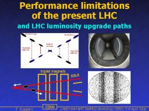 Performance limitations of the present LHC and LHC