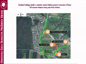 Zemljevid olskega okolia z vrisanimi varnimi olskimi potmi