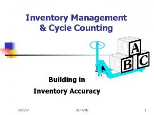 Inventory Management Cycle Counting Building in Inventory Accuracy