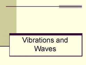 Vibrations and Waves Vibrations and Waves Wiggles in