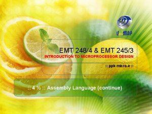 EMT 2484 EMT 2453 INTRODUCTION TO MICROPROCESSOR DESIGN
