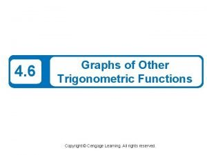 4 6 Graphs of Other Trigonometric Functions Copyright
