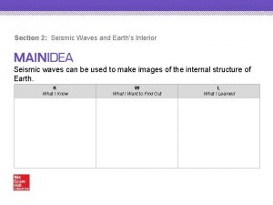 Section 2 Seismic Waves and Earths Interior Seismic