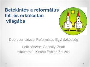 Betekints a reformtus hit s erklcstan vilgba DebrecenJzsai