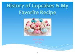 History of Cupcakes My Favorite Recipe Nikki Keskey