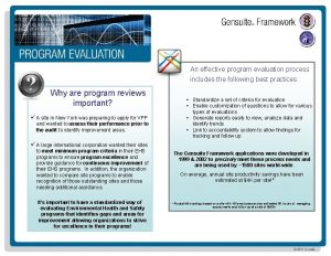 An effective program evaluation process includes the following