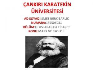 ANKIRI KARATEKN NVERSTES AD SOYAD SMET BERK BARLIK