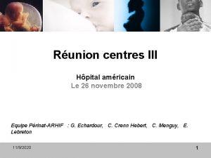 Runion centres III Hpital amricain Le 26 novembre