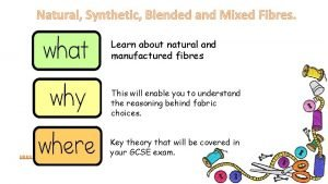 Natural Synthetic Blended and Mixed Fibres Learn about