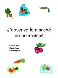 Jobserve le march de printemps Ralis par Illustr