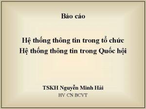 Bo co H thng thng tin trong t