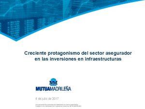 Creciente protagonismo del sector asegurador en las inversiones