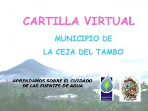 CARTILLA VIRTUAL MUNICIPIO DE LA CEJA DEL TAMBO