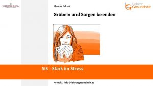 Marcus Eckert Grbeln und Sorgen beenden SIS Stark