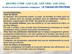 BACPRO CTRM CAP CLM CAP CRM CAP DVUL