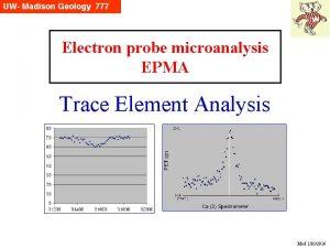 Electron probe microanalysis EPMA Trace Element Analysis Mod