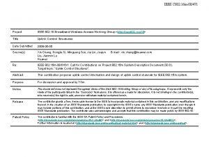 IEEE C 802 16 m08471 Project IEEE 802