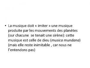 La musique doit imiter une musique produite par