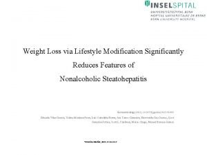 Weight Loss via Lifestyle Modification Significantly Reduces Features