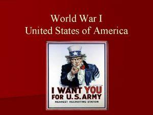 World War I United States of America Major
