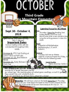 Third Grade Little Mountain Elementary Sept 30 October