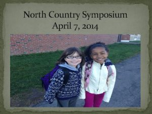 North Country Symposium April 7 2014 State of