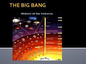 THE BIG BANG INTRODUCCIN Si queremos conocer nuestros