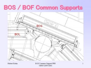 BOS BOF Common Supports BOS BOL Hubert Kroha