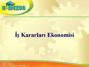 Faal 2 7 100 Gen Kararlar Ekonomisi Giriimcilik