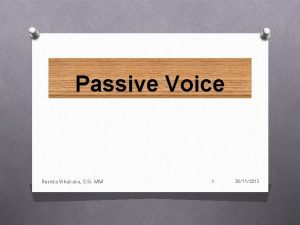 Passive Voice Resista Vikaliana S Si MM 1