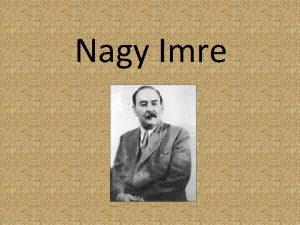 Nagy Imre 1896 1921 1896 jnius 7 n