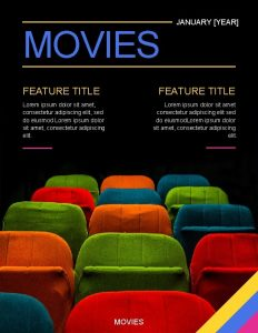 MOVIES FEATURE TITLE JANUARY YEAR FEATURE TITLE Lorem