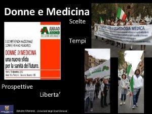 Donne e Medicina Scelte Tempi Prospettive Liberta Sandra