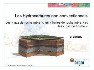 Les Hydrocarbures nonconventionnels Les gaz de rochemre les